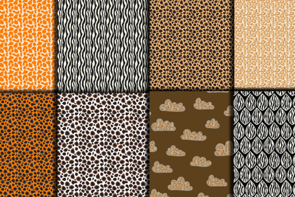 Safari Kraft Digital Paper Pack, Safari Background Graphic Backgrounds By vivastarkids - Image 2