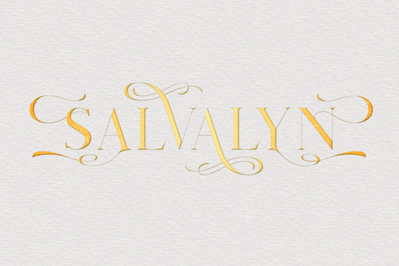 Print on Demand: Salvalyn Serif Font By craftsupplyco - Image 11
