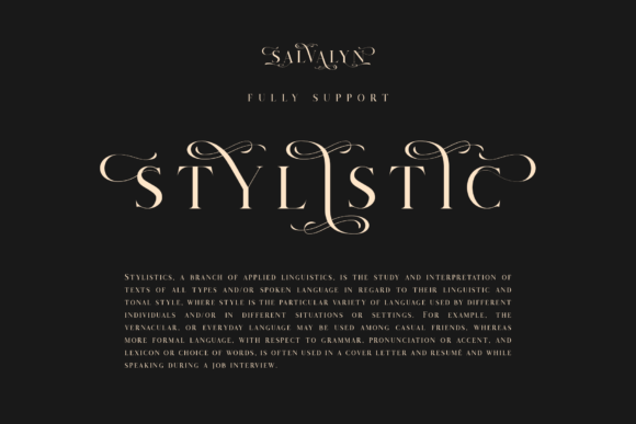 Download Free Salvalyn Font By Craftsupplyco Creative Fabrica for Cricut Explore, Silhouette and other cutting machines.