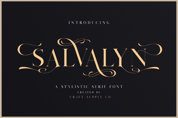 Print on Demand: Salvalyn Serif Font By craftsupplyco