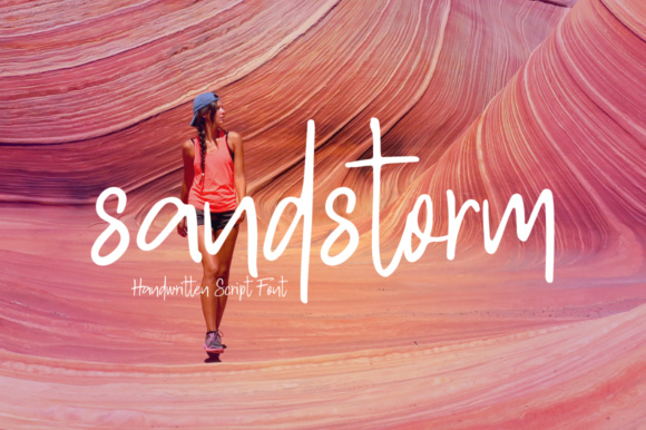 Print on Demand: Sandstrom Script & Handwritten Font By PaulaType