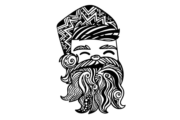 Download Free Santa Zentangle Svg Cut File By Creative Fabrica Crafts for Cricut Explore, Silhouette and other cutting machines.