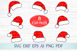 Download Free Santa Hat Christmas Graphic By Magicartlab Creative Fabrica for Cricut Explore, Silhouette and other cutting machines.