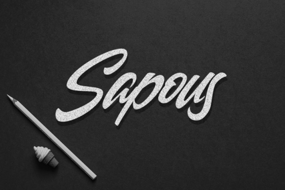 Print on Demand: Sapous Display Font By Hustletter