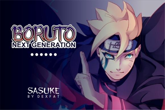 Print on Demand: Sasuke Display Font By dexfat01 - Image 4