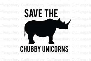 Download Free Save The Chubby Unicorns Cut File Graphic By Cutfilesgallery for Cricut Explore, Silhouette and other cutting machines.