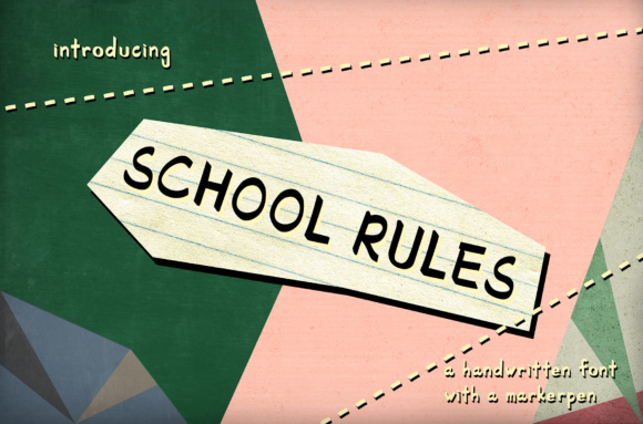 Print on Demand: School Rules Script & Handwritten Font By White Supply