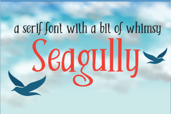 Print on Demand: Seagully Serif Schriftarten von Illustration Ink