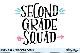 Download Free Second Grade Squad Svg Cut File Grafico Por Thedesignhippo for Cricut Explore, Silhouette and other cutting machines.