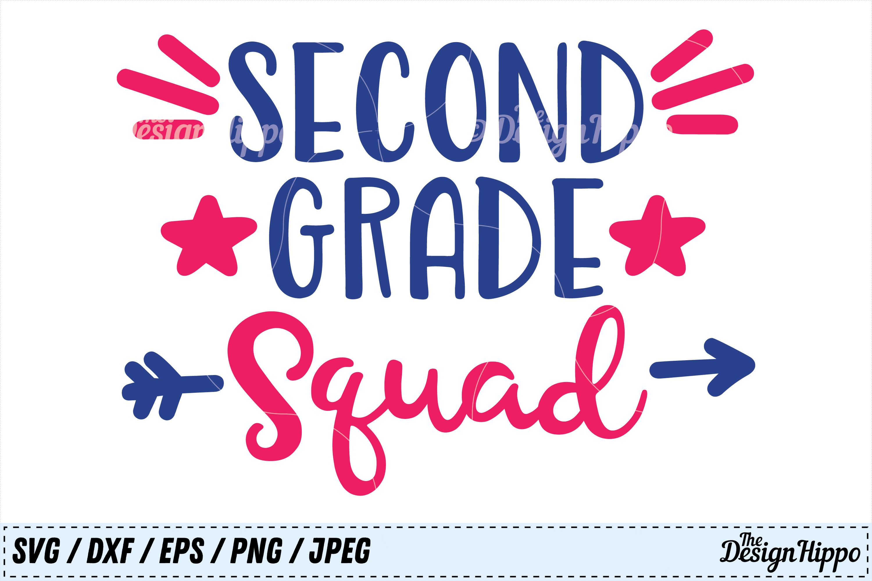 Download Free Second Grade Squad Svg Cutting File Graphic By Thedesignhippo for Cricut Explore, Silhouette and other cutting machines.