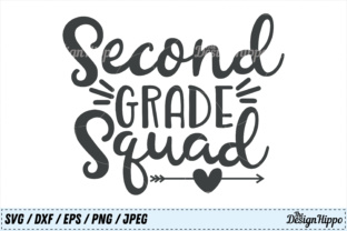 Download Free Second Grade Squad Svg Graphic By Thedesignhippo Creative Fabrica for Cricut Explore, Silhouette and other cutting machines.