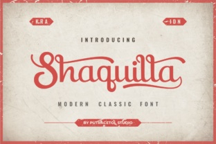 Shaquilla Font By putracetol