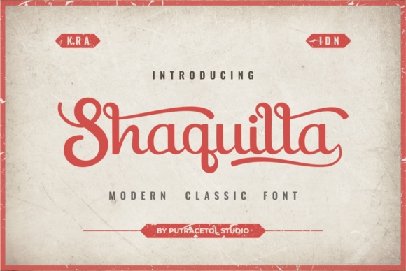 Print on Demand: Shaquilla Script & Handwritten Font By putracetol