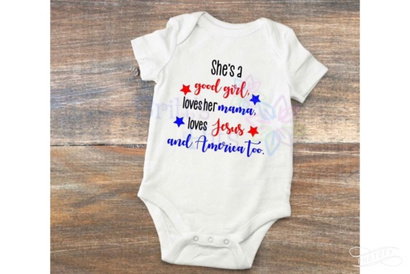 Download Free She S A Good Girl Loves Her Mama Loves Jesus Graphic By Britt S for Cricut Explore, Silhouette and other cutting machines.