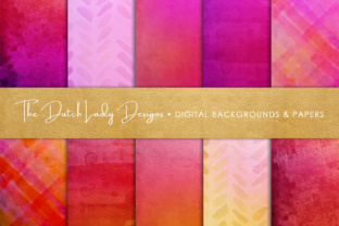 Shiny Red & Pink Scrapbook Papers Graphic By daphnepopuliers