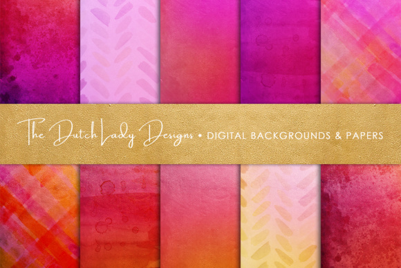 Print on Demand: Shiny Red & Pink Scrapbook Papers Graphic Textures By daphnepopuliers