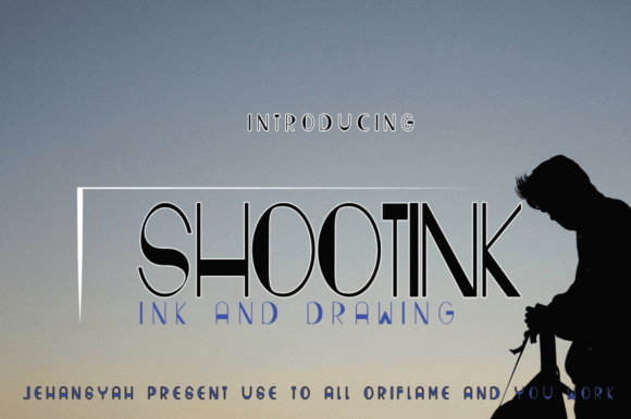 Print on Demand: Shootink Display Font By jehansyah251