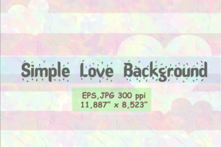 Simple Love Background Graphic By widyaav