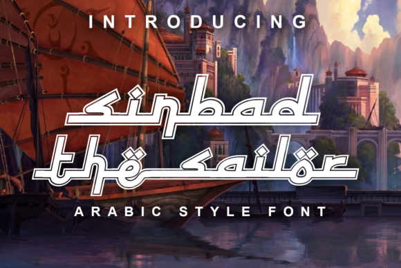 Print on Demand: Sinbad the Sailor Decorative Font By vladimirnikolic - Image 1
