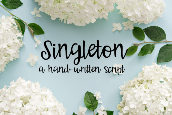 Print on Demand: Singleton Script & Handwritten Font By Illustration Ink