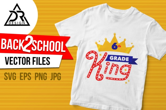 Print on Demand: Sixth Grade King Graphic Illustrations By davidrockdesign