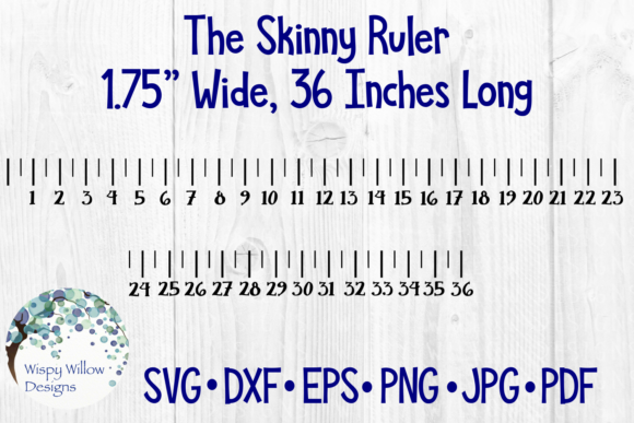 Skinny Ruler 36 Inches Yard Graphic By Wispywillowdesigns