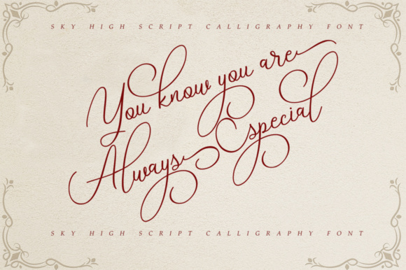 Print on Demand: Sky High Script Script & Handwritten Font By alandya typefoundry - Image 2