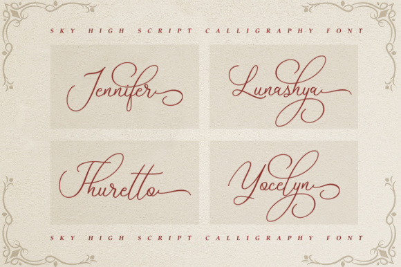 Print on Demand: Sky High Script Script & Handwritten Font By alandya typefoundry - Image 5