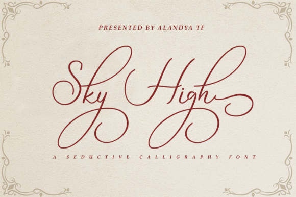 Print on Demand: Sky High Script Script & Handwritten Font By alandya typefoundry - Image 1