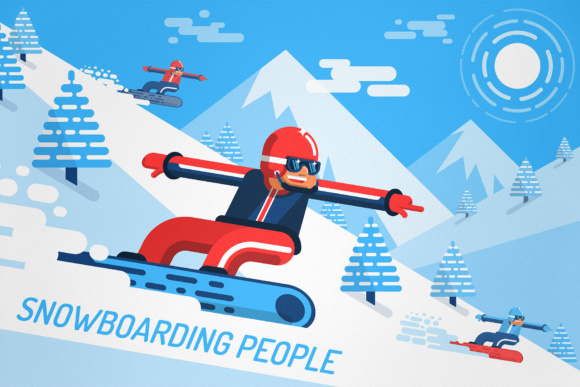 Snowboarding People Graphic By Agor2012