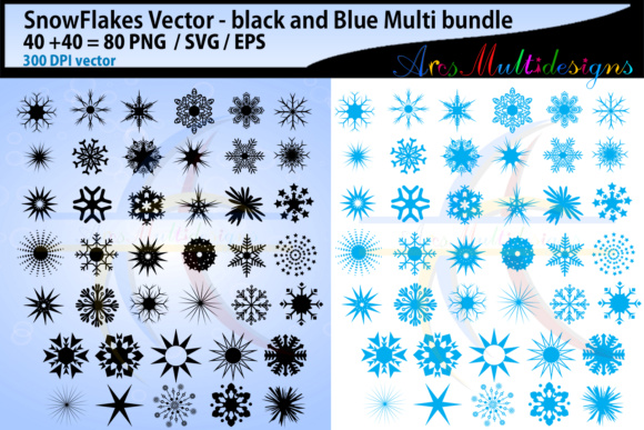 Print on Demand: Snowflake Svg Vector Graphic Illustrations By Arcs Multidesigns