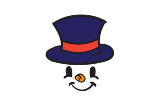 Snowman Face with Top Hat Craft Design By Creative Fabrica Crafts