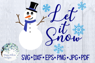 Download Free Snowman Let It Snow Winter Craft File Graphic By for Cricut Explore, Silhouette and other cutting machines.