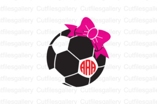 Download Free Soccer Ball Bow Cut File Graphic By Cutfilesgallery Creative for Cricut Explore, Silhouette and other cutting machines.