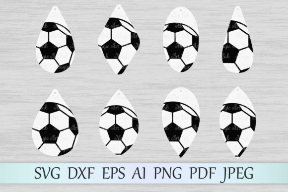 Soccer Earrings Graphic Crafts By MagicArtLab