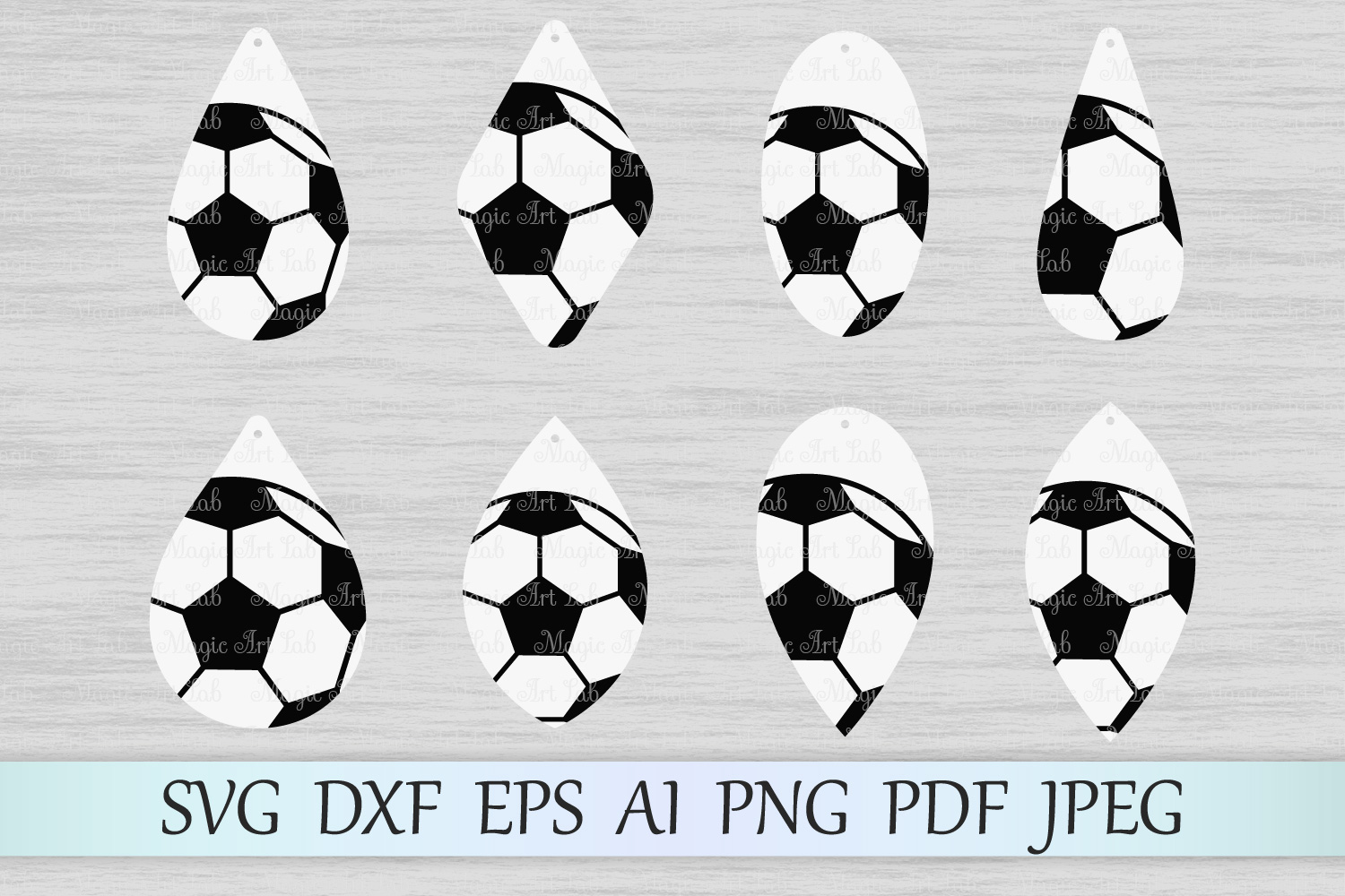 Download Free Soccer Earrings Graphic By Magicartlab Creative Fabrica for Cricut Explore, Silhouette and other cutting machines.