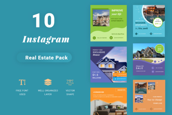 Social Media Property Promotion Pack Graphic Websites By TMint