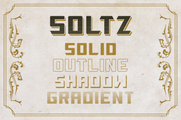 Print on Demand: Soltz Display Font By VonTypeCo - Image 2