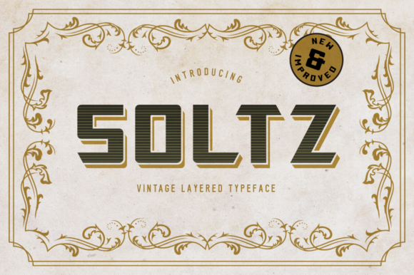 Print on Demand: Soltz Display Font By VonTypeCo - Image 1