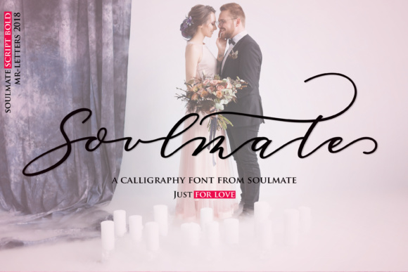 Print on Demand: Soulmate Script Script & Handwritten Font By Mrletters