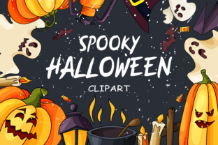 Spooky Halloween Clipart Graphic By tregubova.jul