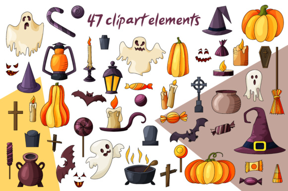Spooky Halloween Clipart Graphic Illustrations By tregubova.jul - Image 8