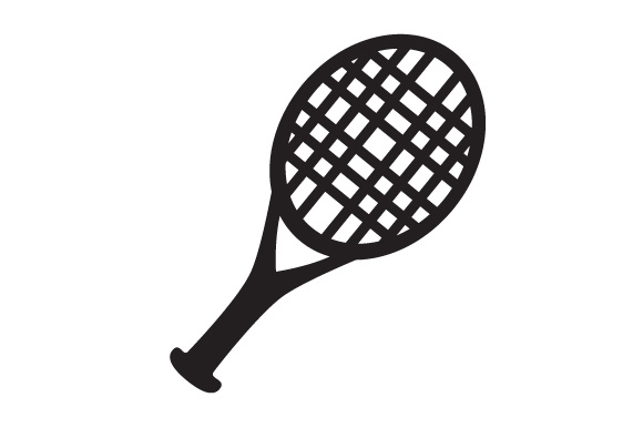 Download Free Sport Object Tennis Racket Svg Cut File By Creative Fabrica for Cricut Explore, Silhouette and other cutting machines.