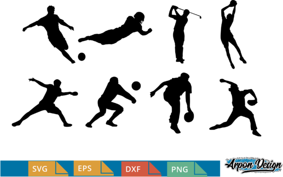 Download Free Sport Silhouette Graphic By Arpondesign Creative Fabrica for Cricut Explore, Silhouette and other cutting machines.