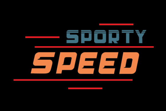 Print on Demand: Sporty Speed Display Font By Lickable Pixels