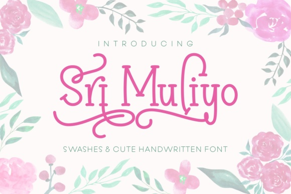 Print on Demand: Sri Muliyo Script & Handwritten Font By Rifki (7ntypes)