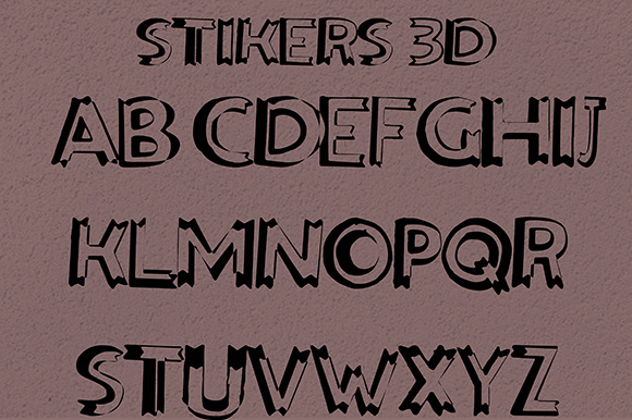 Print on Demand: Stikers Sans Serif Font By Fallengraphic - Image 3