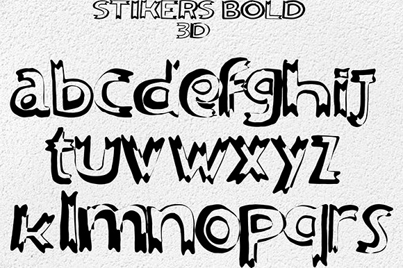 Print on Demand: Stikers Sans Serif Font By Fallengraphic - Image 4