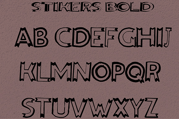 Print on Demand: Stikers Sans Serif Font By Fallengraphic - Image 7