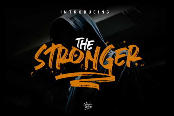 Stronger Display Font By MLKWSN studio